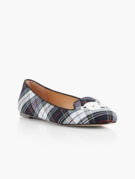 Georgina Plaid Flats-Polar Bear