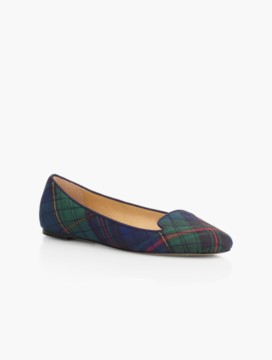 Georgina Quilted Flats-Tartan Plaid