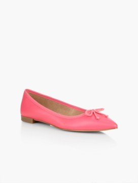 Mira Ballet Flats-Pebbled Leather