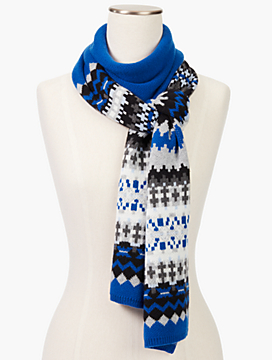 Bluesy Fair Isle Scarf