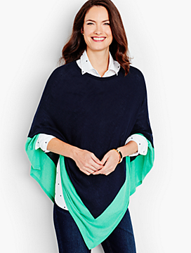 Colorblocked Poncho