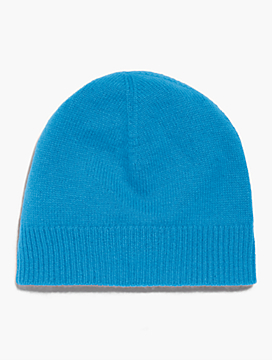 Ribbed Trim Cashmere Hat