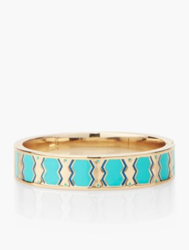 Knotted-Oval Enamel Bangle