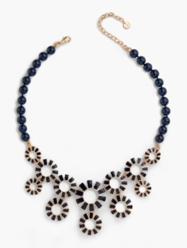 Flowers & Beads Bib Necklace