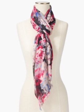 Festive Bundled Roses Scarf