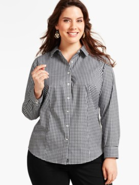 The Perfect Long-Sleeve Shirt-Sparkle Checks