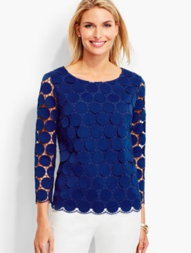 Opulent Dot-Lace Top