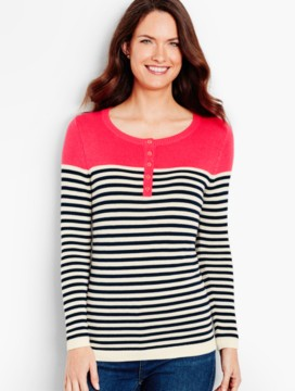 Breton Stripes Henley Sweater
