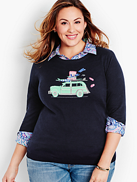 "The Statement Sweater-Road-Trip ""Woody"" Wagon"