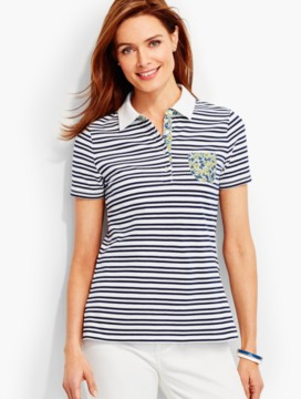 The Pique Polo-Double Stripes