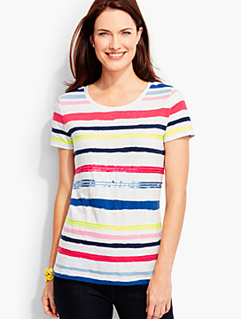 Brushstroke Stripes Tee