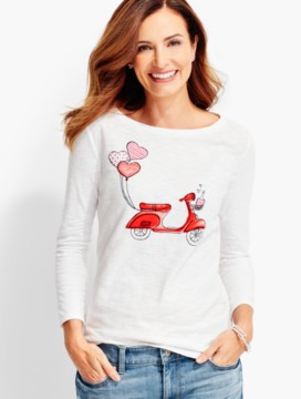 Heart Balloons Scooter Tee