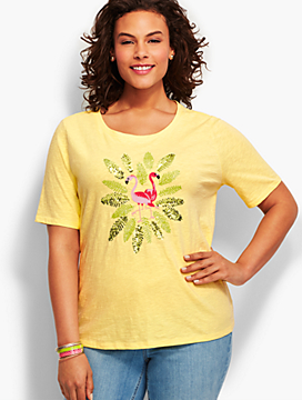 Sequin Flamingo Tee