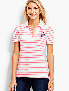 The Pique Polo-Vintage Birdcage & Stripes