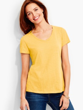 Short-Sleeve V-Neck Nantucket Tee-The Breezy Tee