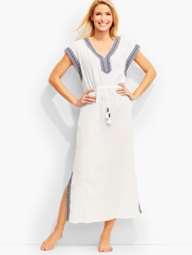 Embroidered Long Cover-Up