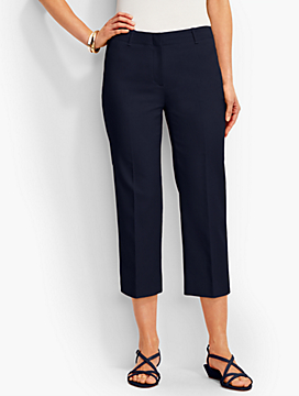 Talbots Chelsea Wide-Leg Crop-Double-Weave
