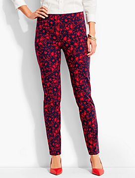 Talbots Chatham Ankle Pant-Woodcut Floral