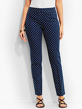 Talbots Chatham Ankle Pant-Curvy Fit/Polka Dots