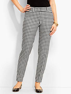 Talbots Hampshire Gingham Ankle Pant-Curvy Fit