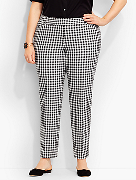Talbots Hampshire Ankle Pant-Gingham