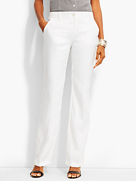Talbots Windsor Classic Linen Trouser-Curvy Fit/Linen/White