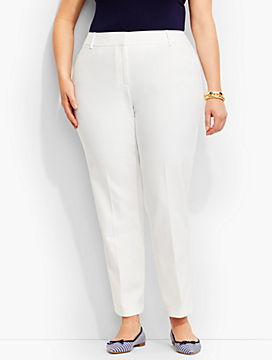 Talbots Hampshire Ankle Pant-Curvy/Double-Weave
