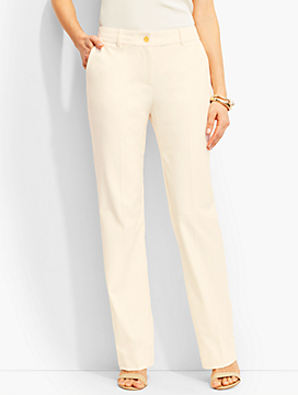 Lindsey Full-Length Trouser-Curvy Fit/Ivory