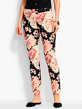 Talbots Chatham Ankle Pant-Cascading Flowers