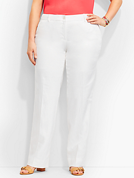 Talbots Windsor Trouser-Linen/White