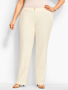 Talbots Windsor Full-Length Trouser-Lindsey Fabric/Ivory