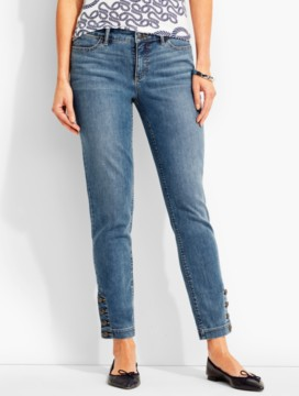 The Flawless Five-Pocket Button-Ankle Jean-Clear Sailing Wash
