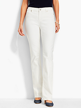 The Flawless Five-Pocket Bootcut-White