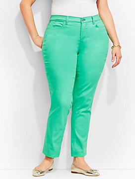 The Flawless Five-Pocket Slim Ankle-Curvy Fit/Candy Pastels