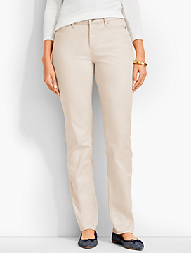 The Flawless Five-Pocket Straight Leg-Curvy Fit/Neutrals