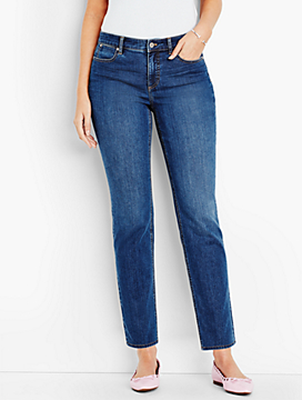 The Flawless Five-Pocket Ankle-Curvy Fit/Liberty Wash