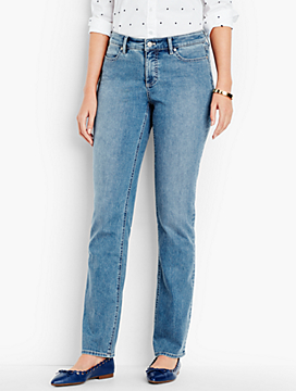 The Flawless Five-Pocket Straight-Leg-Curvy Fit/Vintage Wash