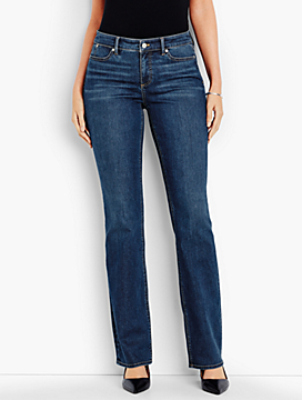 The Flawless Five-Pocket Bootcut-Curvy Fit/Americana Wash