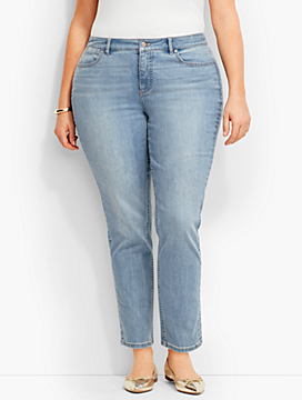 The Flawless Five-Pocket Ankle-Curvy Fit/Iceberg Blue Wash