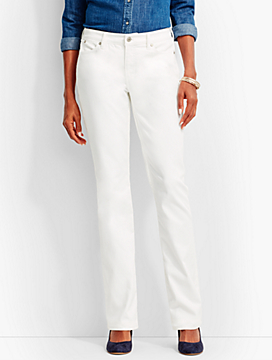The Flawless Five-Pocket Bootcut-Curvy Fit/White