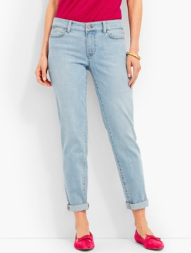 The Flawless Five-Pocket Gently Distressed Boyfriend - Salt Water Wash