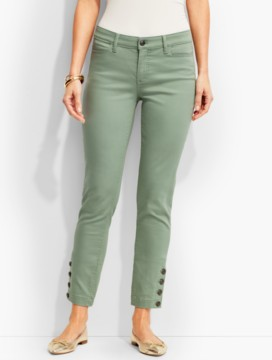 The Flawless Five-Pocket Button-Ankle Jean-Curvy