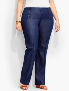 Womans Sailor Pant-Indigo Blue Wash
