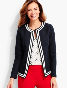 Tipped Basket-Weave Jacket