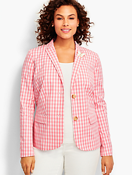 Party Gingham Blazer