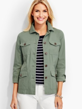 Lace-Up Back Safari Jacket