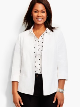 Fresh Linen No-Close Jacket - White