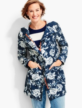 Floral Toile Hooded Anorak