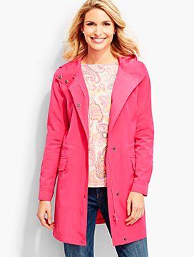 Modern Hooded Anorak-Punch Pinki