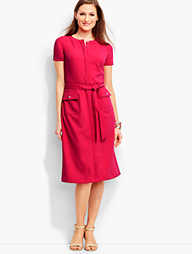 Polished Crepe Shirt Dress